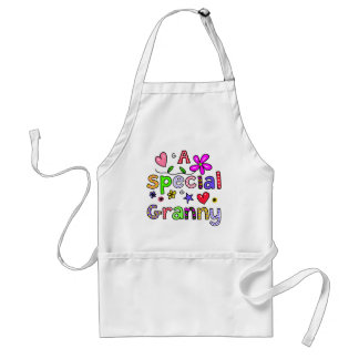 Cute A Special Granny Greeting Text Expression Adult Apron