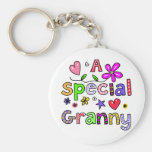 Cute A Special Granny Greeting Text Expression Key Chain