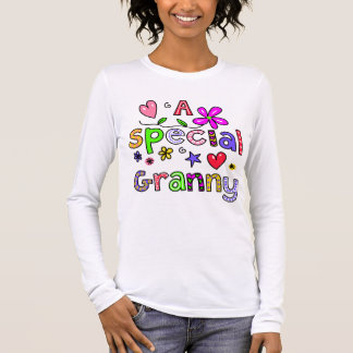 Cute A Special Granny Greeting Text Expression Long Sleeve T-Shirt