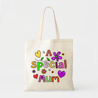 Cute A Special Mum Greeting Text Expression Budget Tote Bag