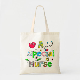 Cute A Special Nurse Greeting Text Expression Budget Tote Bag
