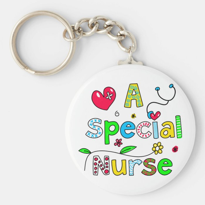 Cute A Special Nurse Greeting Text Expression Keychain