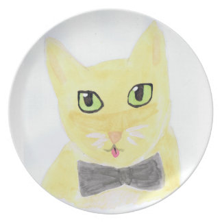 Cute Abstract Cat Plate