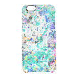 Cute abstract colored painting design clear iPhone 6/6S case