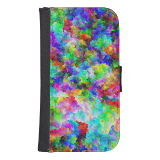 Cute abstract colorful brust texture galaxy s4 wallet cases