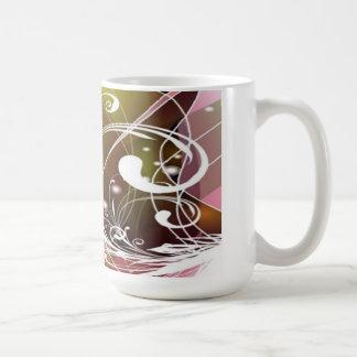 Cute Abstract Floral Mug