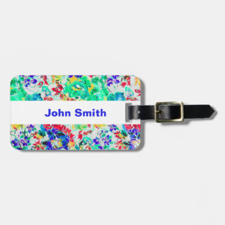 Cute abstract floral pattern luggage tag