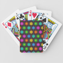 Cute Abstract Flower Pattern Bicycle Playing Cards