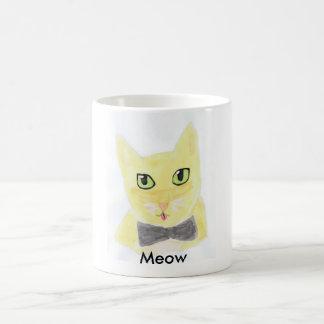 Cute Abstract Meow Cat Classic White Coffee Mug