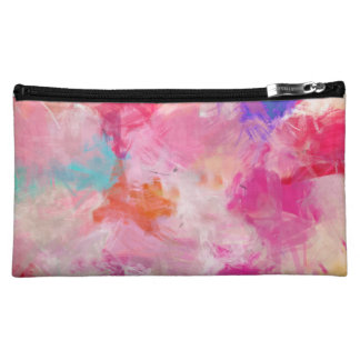 Cute Abstract Spring Flower Field Makeup Bag