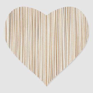 Cute abstract wood lines design heart sticker