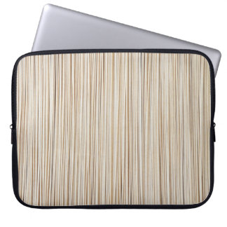 Cute abstract wood lines design laptop sleeve