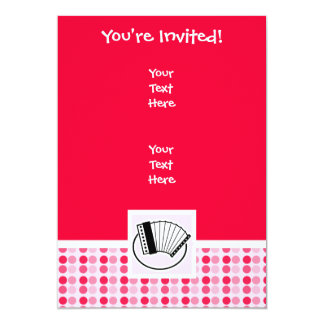 Cute Accordion 5x7 Paper Invitation Card