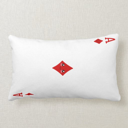 Cute Ace of Diamonds Playing Card Pillow