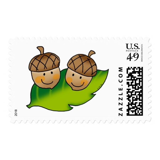 cute acorns postage