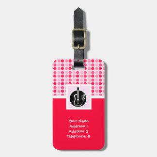Cute Acoustic Guitar Tag For Luggage