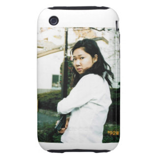 Cute Action Girl with Gun Iphone 3 Case