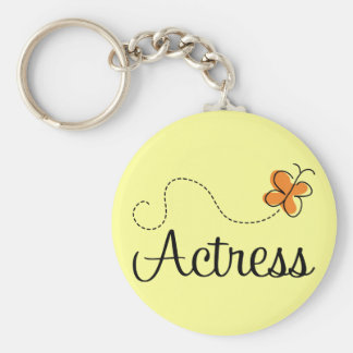 Cute Actress Butterfly Logo Gift Basic Round Button Keychain