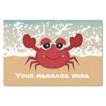 Cute add message beach crab party tissue tissue paper