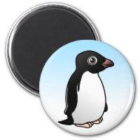 Adelie Penguin Round Magnet