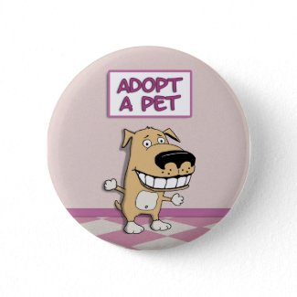 Cute Adopt a Pet button button
