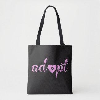 """Cute """"Adopt"""" Animal Tote Bag"""