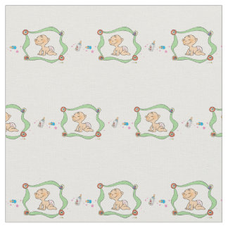 Baby boy shower fabric zazzle for Baby themed fabric