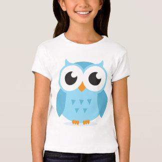 Cute adorable blue owl animal cartoon for kids T-Shirt