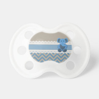Cute adorable blue Paisleys elephant white lace Baby Pacifiers