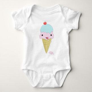 Cute adorable cartoon ice cream children's design baby bodysuit