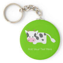 Cute & Adorable Cow Keychain
