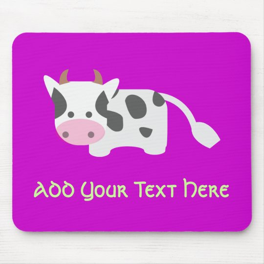 Cute & Adorable Cow Mouse Pad