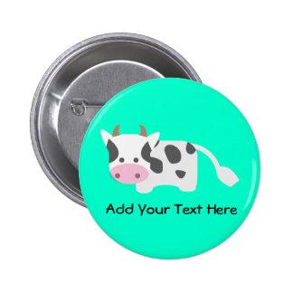 Cute & Adorable Cow Pinback Button