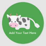 Cute & Adorable Cow Stickers