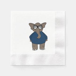 Cute Adorable Elephant Paper Napkins