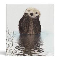 Cute adorable fluffy otter animal binder