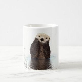 Cute adorable fluffy otter animal coffee mug