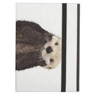 Cute adorable fluffy otter animal iPad case