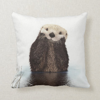 Cute adorable fluffy otter animal pillow