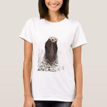 Cute adorable fluffy otter animal T-Shirt