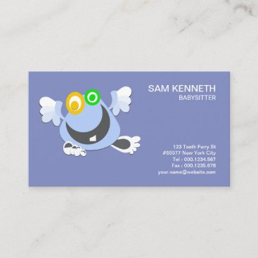 Cute Adorable Funny Tooth Fairy Babysitter Business Card