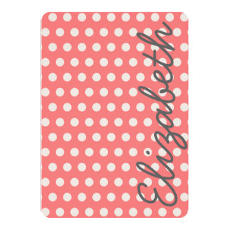 Cute adorable girly bubble gum pink  polka dots card