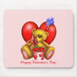 Cute Adorable Heart Bear 1 Mouse Pad