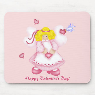 Cute Adorable Hearts Angel 1 Mouse Pad
