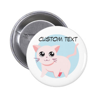 Cute Adorable Kitty Cat Button