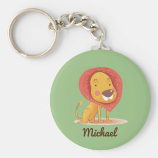 Cute Adorable Lion personalized custom color Keychain