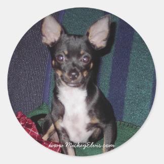 Cute & Adorable MickeyElvis Round Sticker
