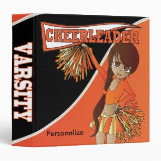 Cute Adorable Orange Cheerleader Binder