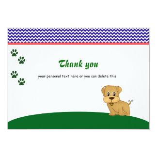 Cute Adorable Puppy Dog Thank You Card
