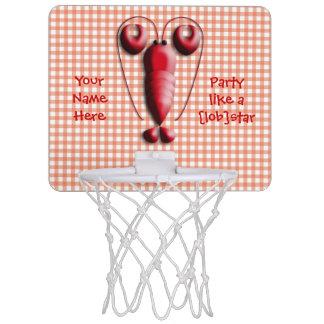 Cute Adorable Red Lobster Heart-Shaped Pincers Mini Basketball Backboard